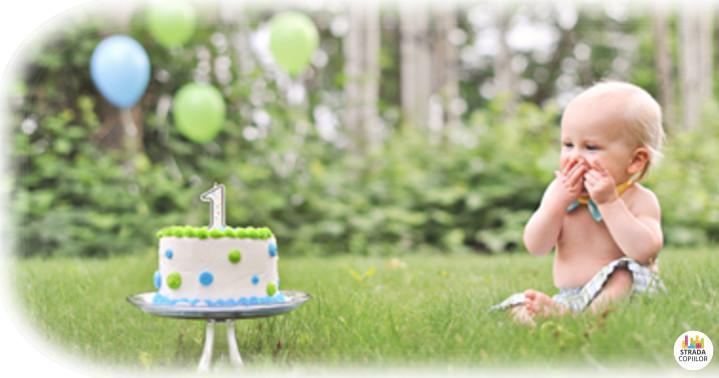 Prima aniversare a copilului tau. Fotografii cu bebe la 1 an