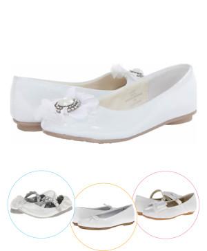 Pantofi eleganti copii albi