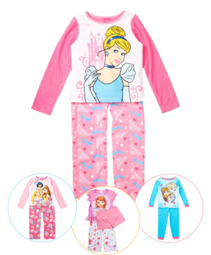 Pijamale copii Disney printese