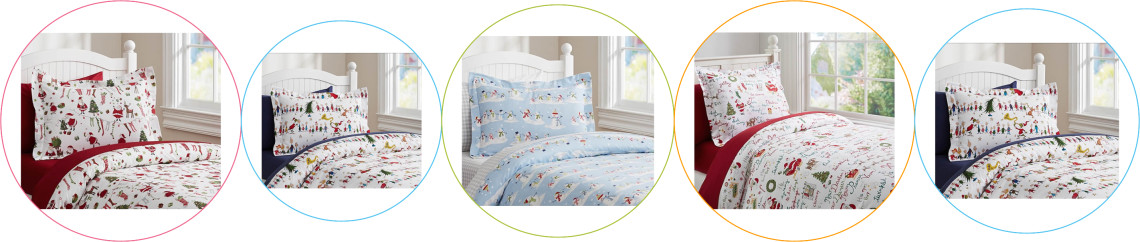 Lenjerii de pat copii Craciun