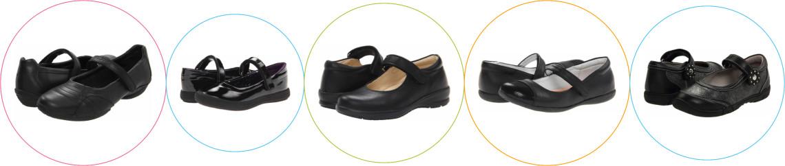 Pantofi scoala piele negri fete